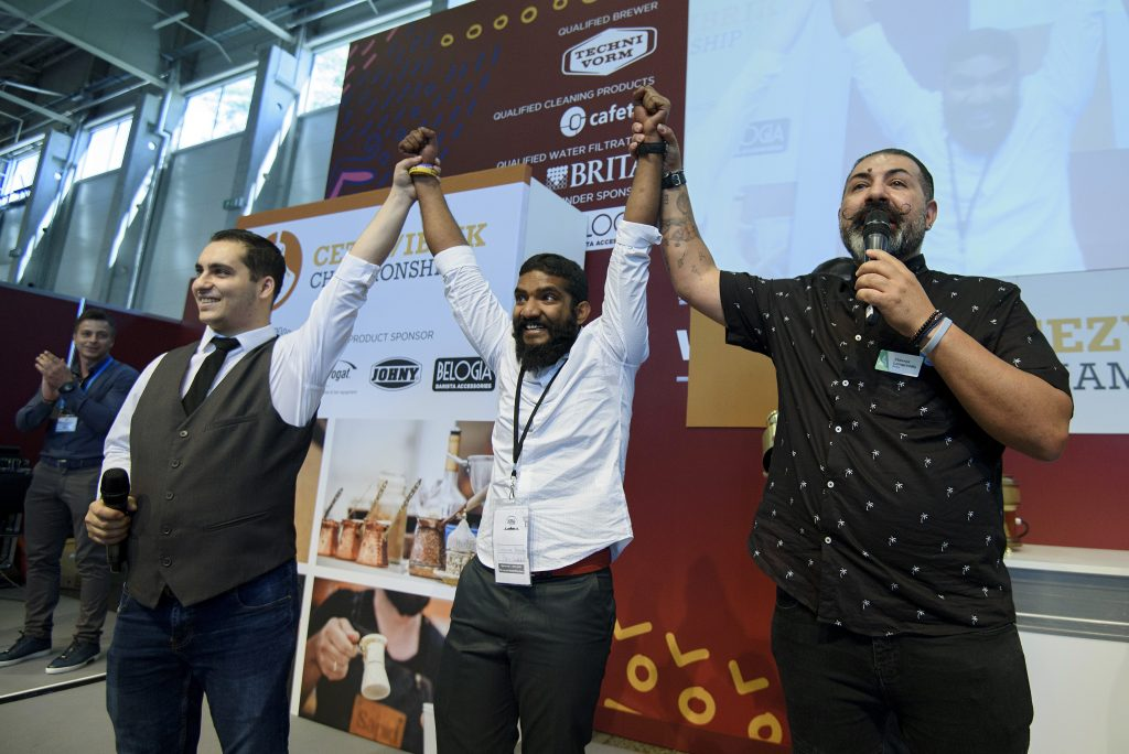 Cezve Ibrik Champion Karthikeyan Rajendram from United Arab Emirates